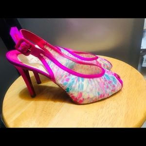 Christian louboutin  pink heels shoes size 7
